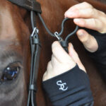 Tacking up wearing wrist warmers